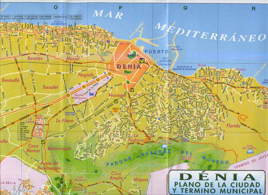 Carte de la ville de Dénia   Appartement à Denia